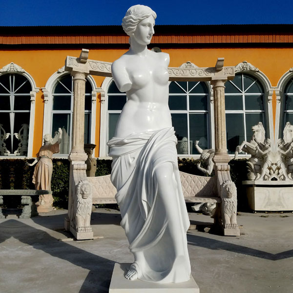 Famous outdoor modern marble art sculptures life size Venus de milo marble statues designs for decor in italy