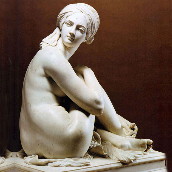 No. TMC-01 Life size famous hand carved marble art figure James Pradier's Odalisque replica for sale
