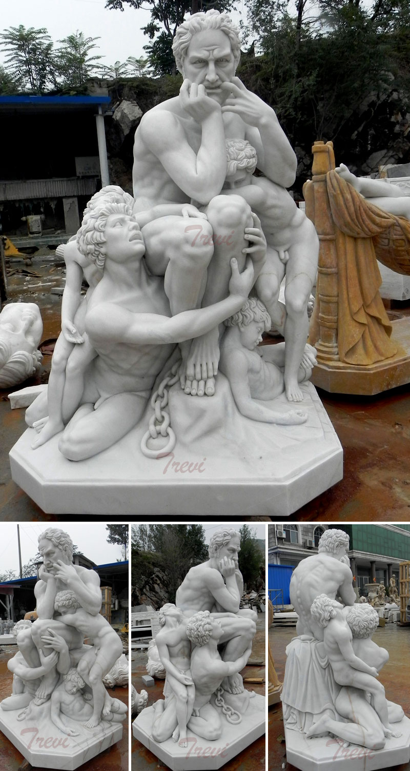Life size famous marble carving sculptures of Ugolino and His Sons by carpeaux design for sale