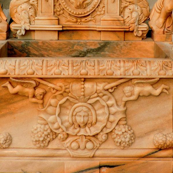 Luxury lion head wall garden fountain details