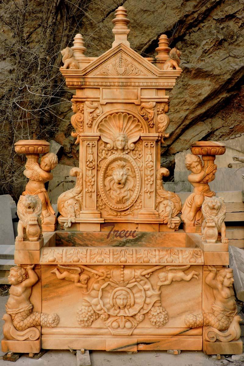 Luxury lion head wall garden fountain ideas outdoor design details