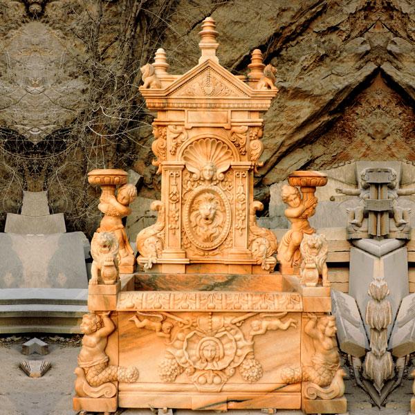 No. TMF-17 Luxury lion head wall garden fountain ideas outdoor