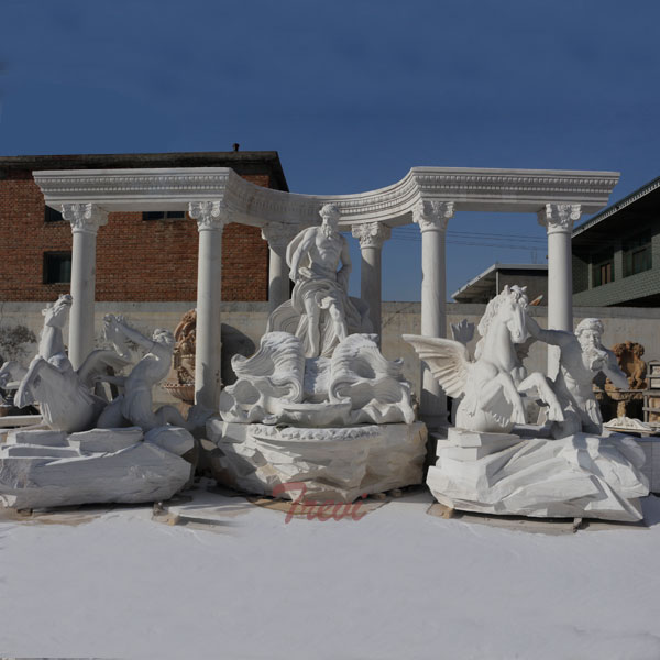 TMF-12 Famous Marble Water  Stone Trevi Fountains Replica for Sale