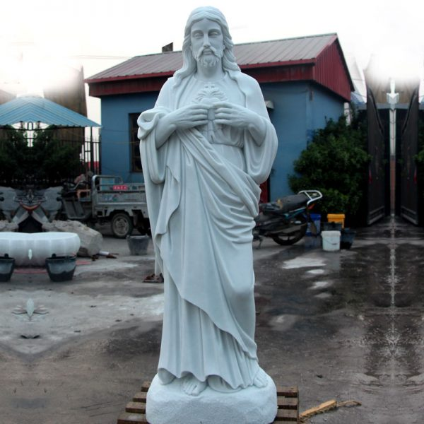 Sacred heart of jesus catholic marble statues for religious garden