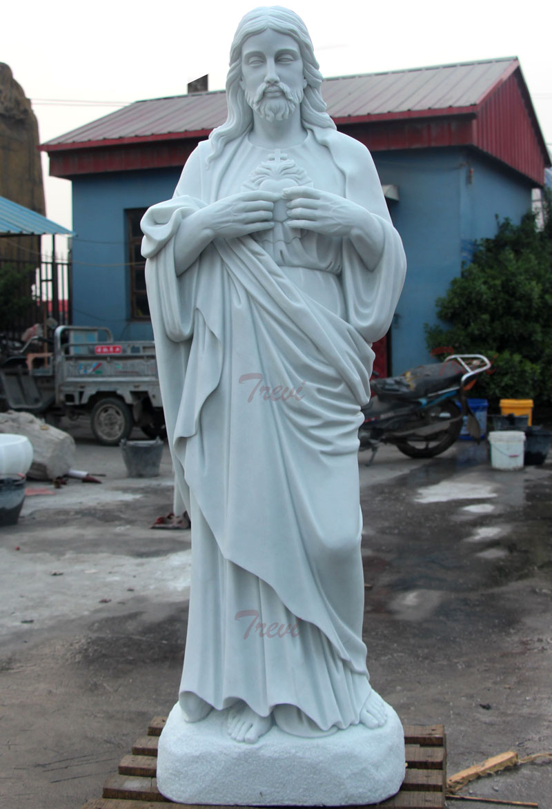 Sacred heart of jesus catholic marble statues for religious garden designs