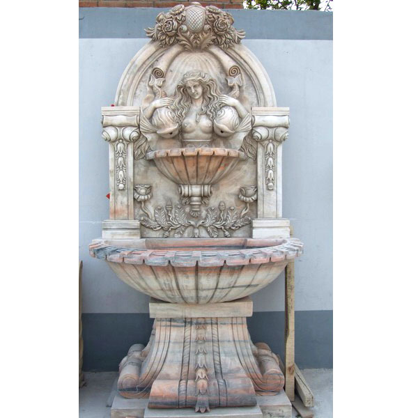 No. TMF-16 Wall mounted water fountain with woman statues designs outdoor