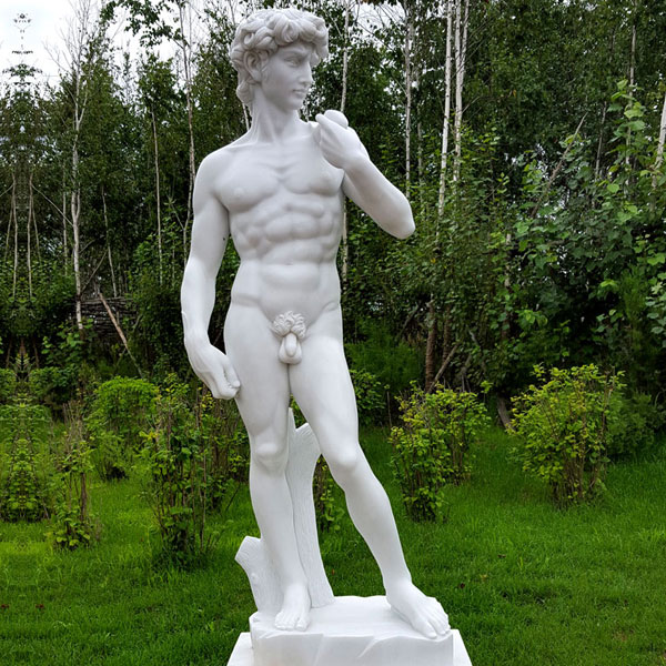 No. TMC-05 Garden decor michelangelo sculptures famous life size marble figure statue David sculpture replica for sale