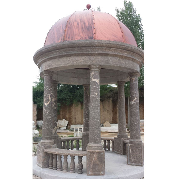 TMG-04 Antique Italian marble gazebo for outdoor yard decor