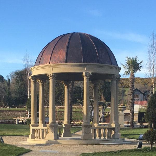 Buy round antique stone garden gazebos outdoor