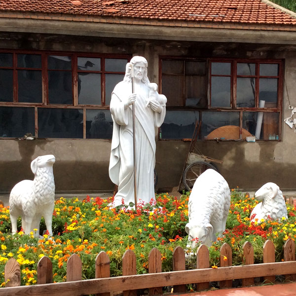 No. TCH-17 Catholic religious garden statues of shepherd Jesus for sale