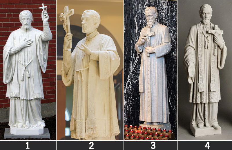 Catholic religious statues of Saint Francis Xavier for garden decor designs
