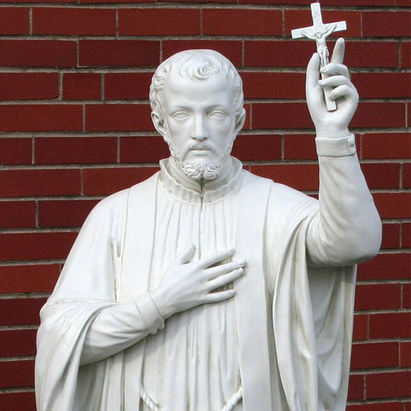 No. TCH-43 Catholic religious statues of Saint Francis Xavier for garden decor