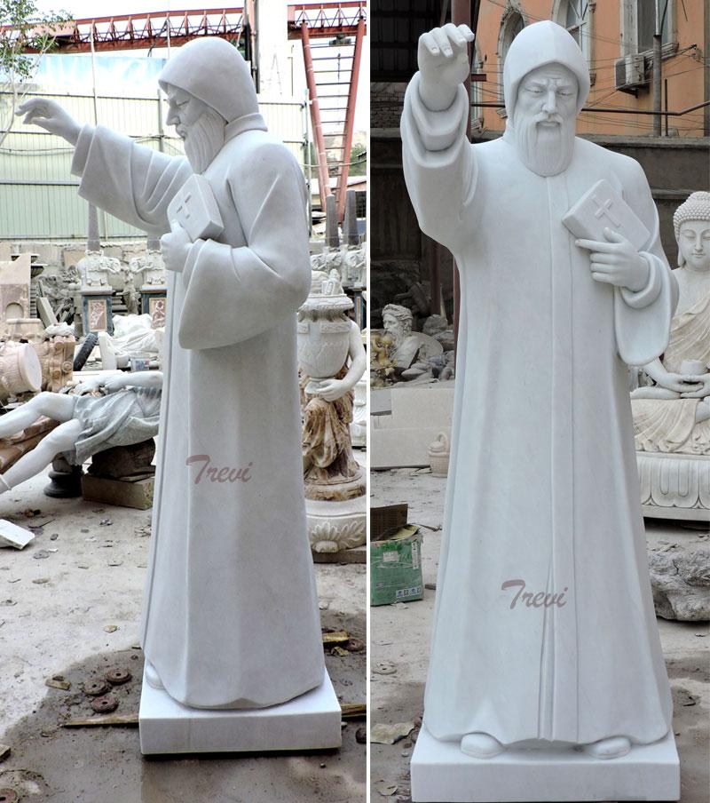 Catholic saint religious statues of st charbel details