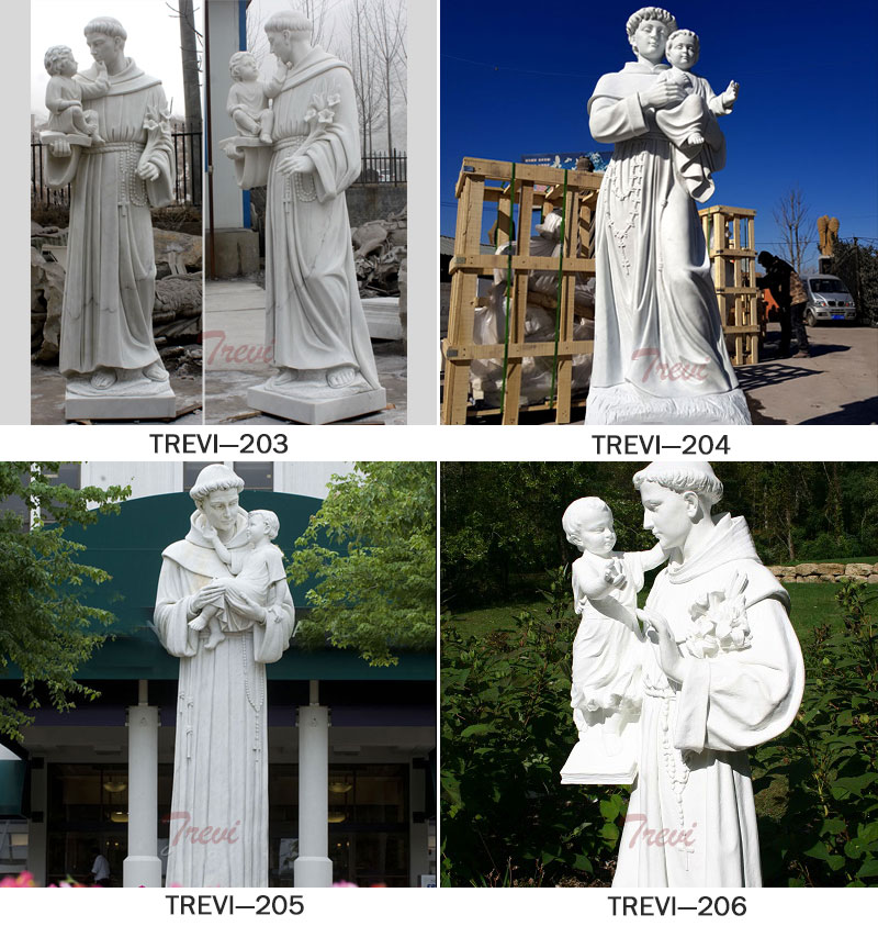 Catholic saint statues of Anthony outdoor for sale from churches designs