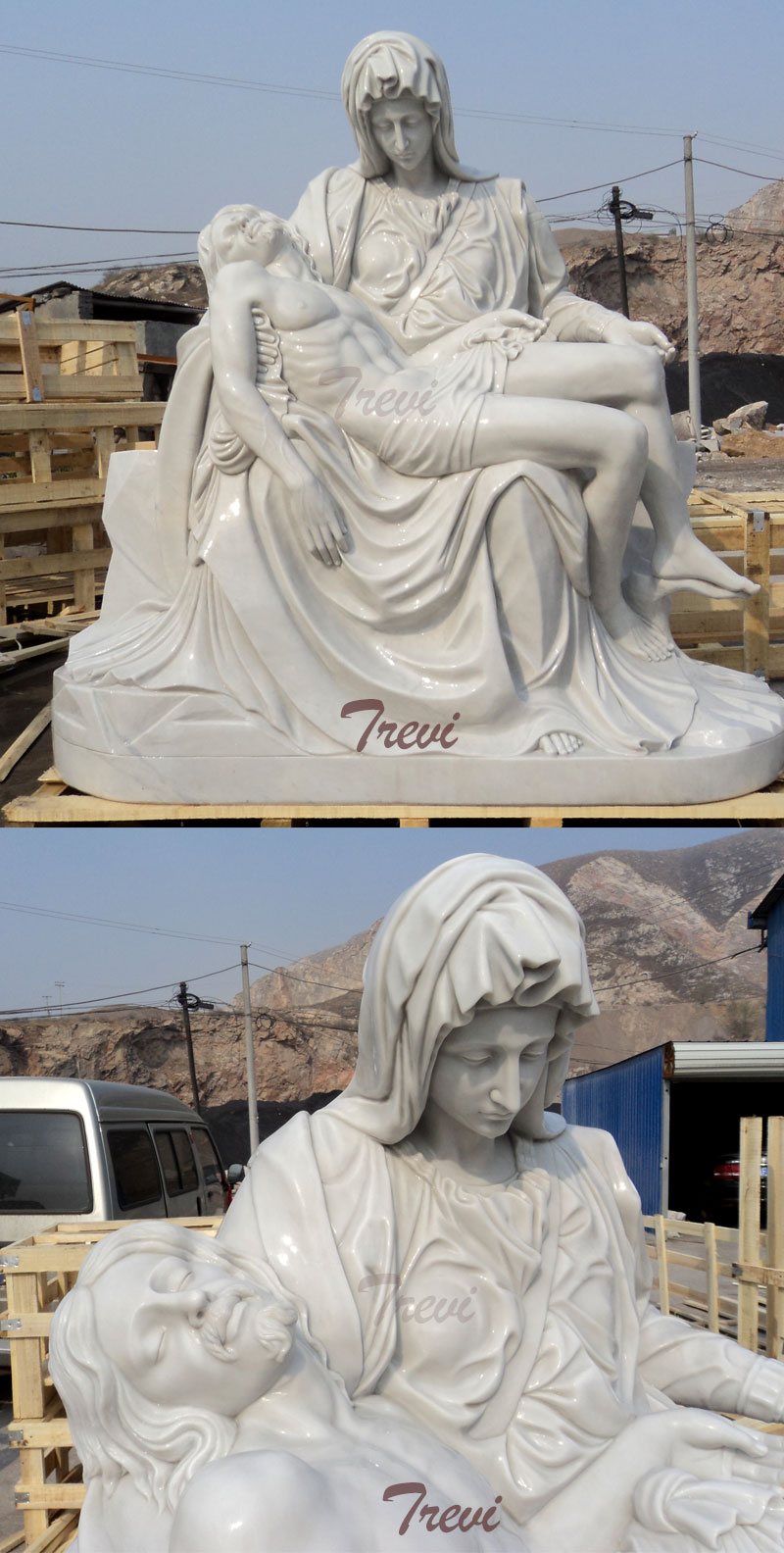 Church religious garden statues of Michelangelo's Pieta online design