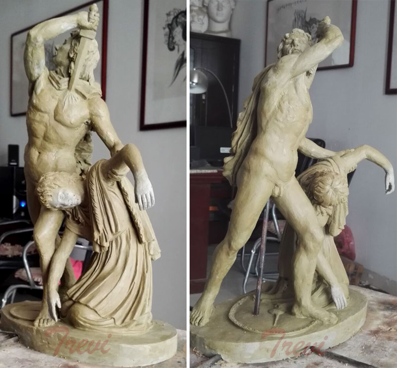 Clay model home decor Ludovisi Gaul and his wife famous marble art statues