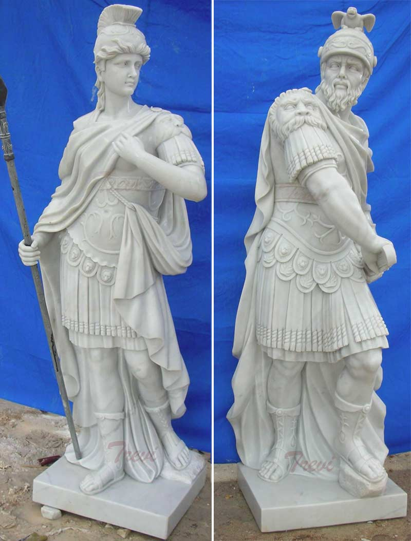 Famous art marble carving sculptures of warriors Rome designs
