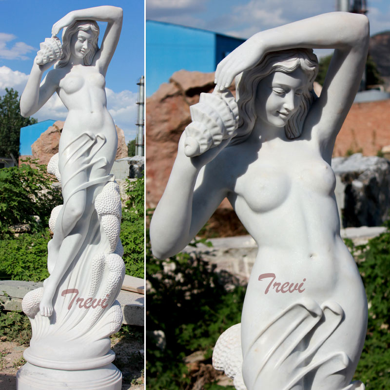 Garden decor Life size famous artists design marble statues Sea nymph by Ferdinando Vichi