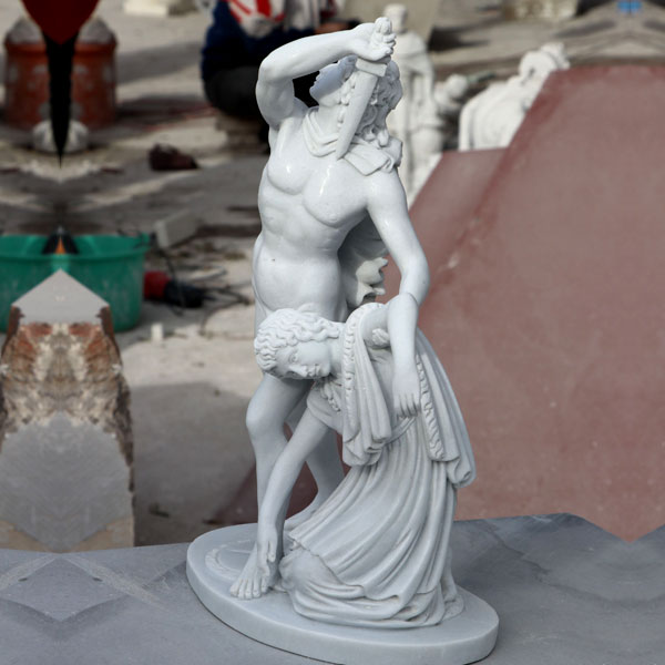 Home decor Ludovisi Gaul and his wife famous marble art statues