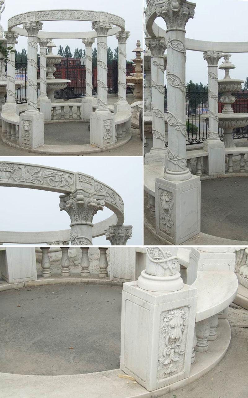 Italian design white marble garden pavilion to buy detailsItalian design white marble garden pavilion to buy details