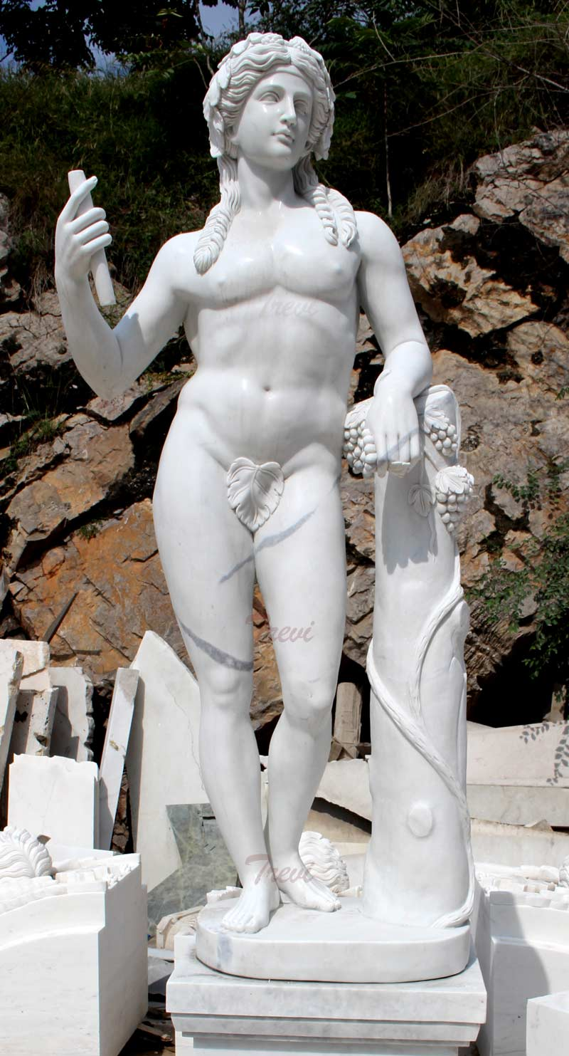 Life size marble famous sculptures God of wine Dionysus design