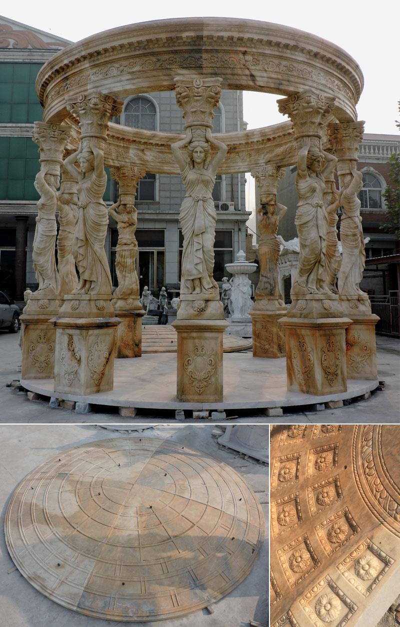 Outdoor patio round decorative garden gazebo designs details