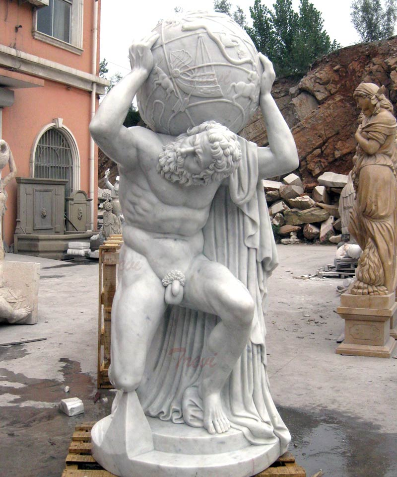World famous statues life size marble Farnese Atlas outdoor decors