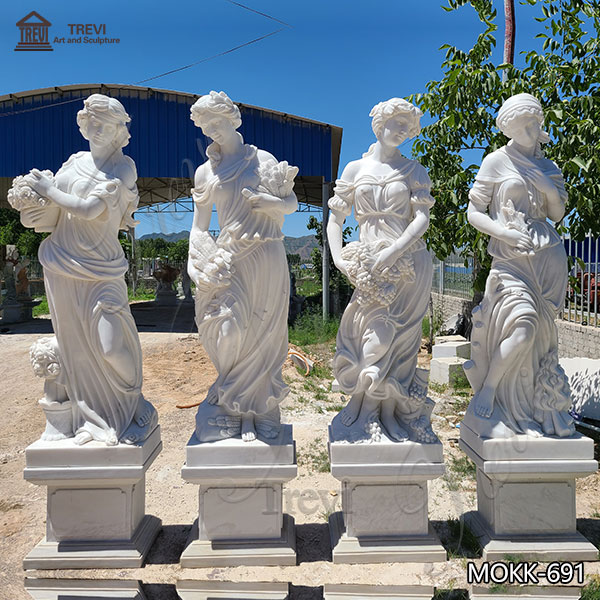 Classical Life-size Four Seasons Ladies Marble Statues Supplier MOKK-691