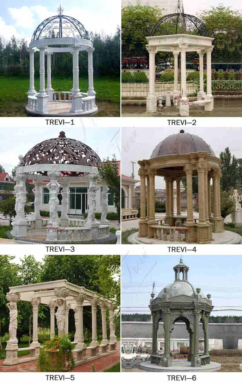 Sunset Red Garden Marble Gazebo Related Product