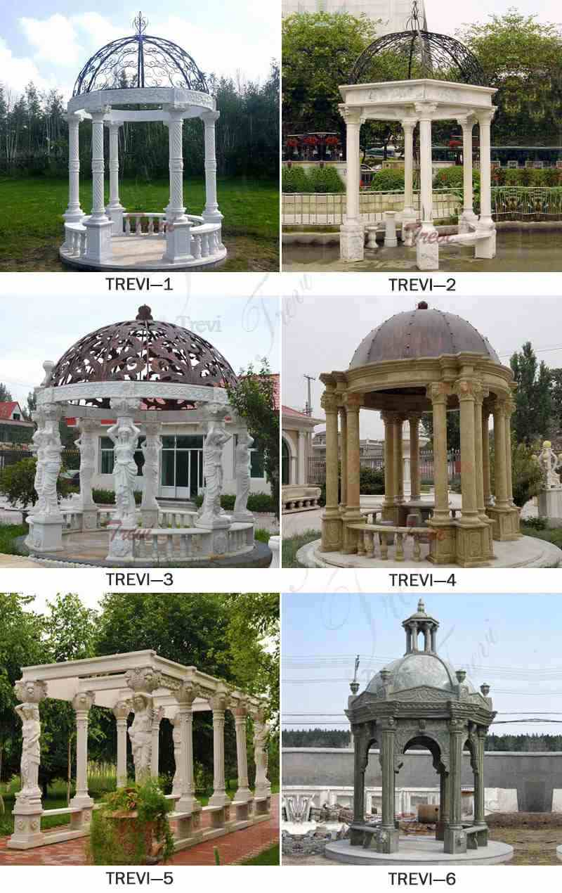 Beautiful Hot Sale Beige Marble Wedding Gazebo DecorRelated