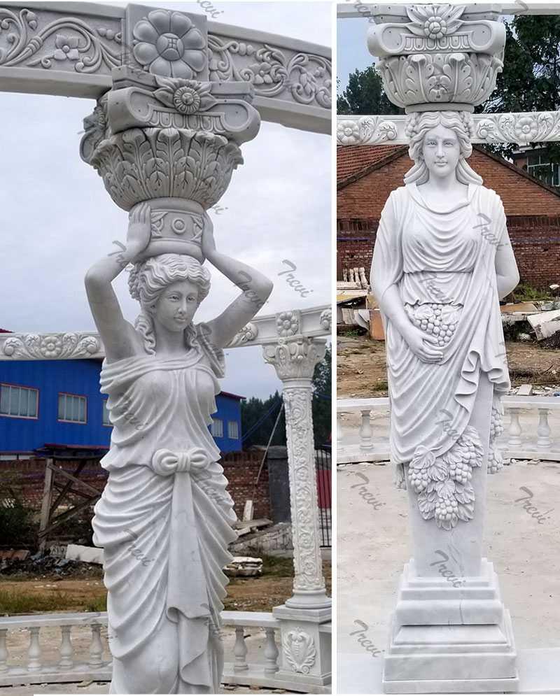 Hand Carved White Marble Gazebo Pavilion for Back Yards Details