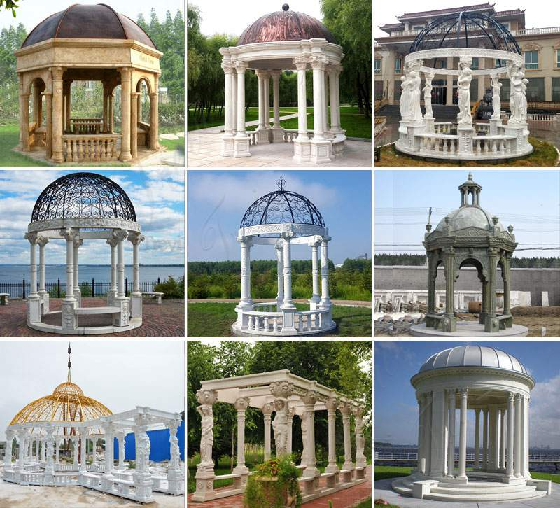Hand Carved White Marble Gazebo Pavilion for Back Yards Related Products