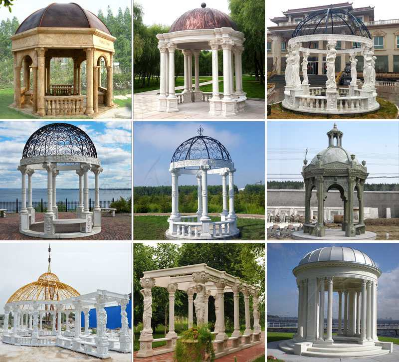 Large Outdoor Marble Wedding Gazebo Decor Other Designs