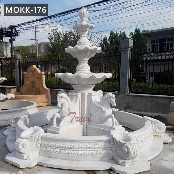 Large Outdoor Marble Horse Water Fountain Garden Decor for Sale MOKK-176