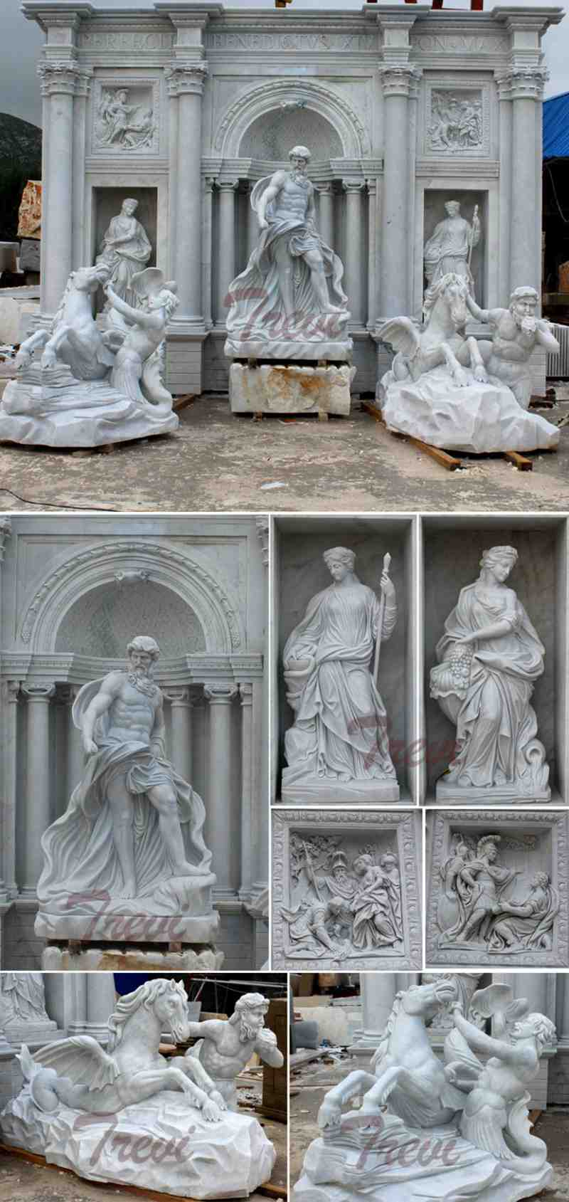 World Famous Marble Trevi Fountains Replica Luxurious Marble Fountains for Sale Details