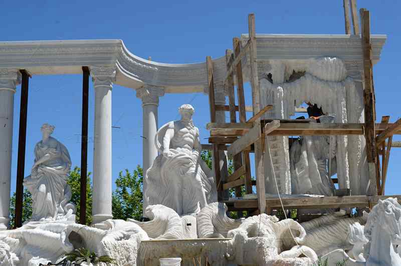 World Famous Marble Trevi Fountains Replica Luxurious Marble Fountains for Sale Installations
