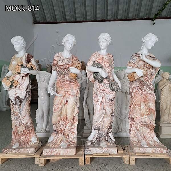 Mixed Color Marble Four Season Statue for Outdoor Garden for Sale MOKK-814