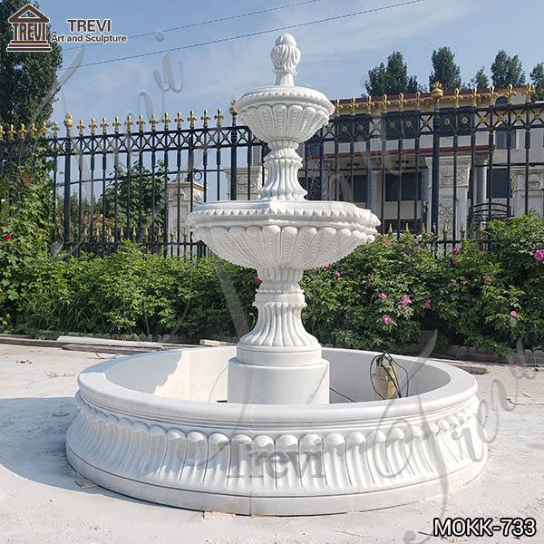 Hand Carved Outdoor White Marble Fountain from Factory Supply MOKK-733