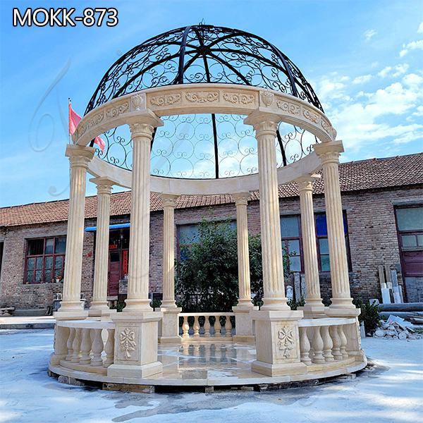 Natural Marble Gazebo for Outdoor Decor for Sale MOKK-873